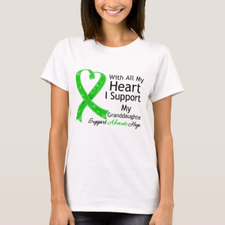 Apoyo a mi nieta con todo mi corazón playera