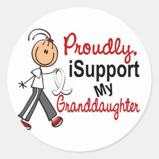 Apoyo a mi nieta SFT (cáncer del hueso/de pulmón Pegatina Redonda