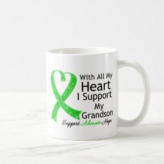 Apoyo a mi nieto con todo mi corazón tazas de café
