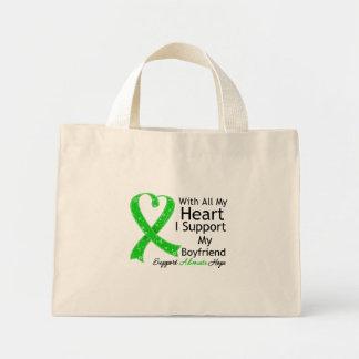 Apoyo a mi novio con todo mi corazón bolsa tela pequeña