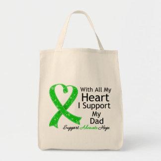 Apoyo a mi papá con todo mi corazón bolsa tela para la compra