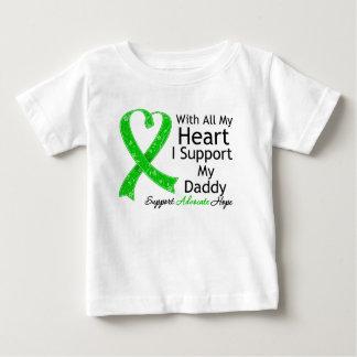 Apoyo a mi papá con todo mi corazón playera de bebé