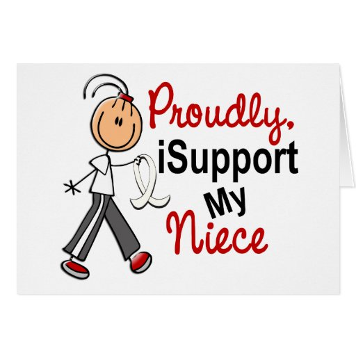 Apoyo a mi sobrina SFT (el cáncer del hueso/de pul Tarjeta De Felicitación