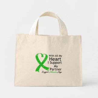 Apoyo a mi socio con todo mi corazón bolsa tela pequeña