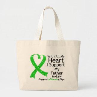 Apoyo a mi suegro con todo mi corazón bolsa tela grande
