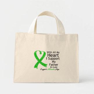 Apoyo a mi suegro con todo mi corazón bolsa tela pequeña