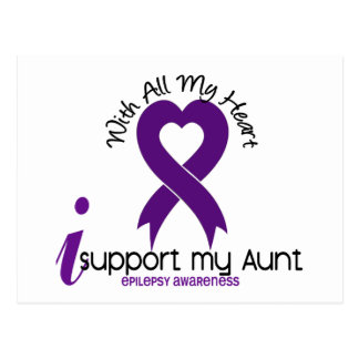 Apoyo a mi tía Epilepsy Tarjeta Postal