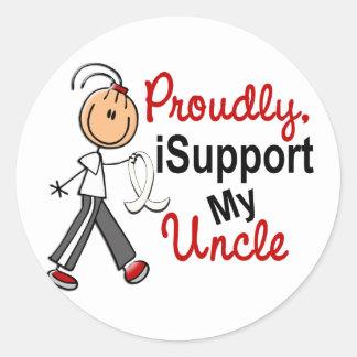 Apoyo a mi tío SFT (el cáncer del hueso/de pulmón) Pegatinas Redondas