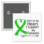Apoyo a mis pacientes con todo mi corazón pin