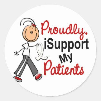 Apoyo a mis pacientes SFT (el cáncer del hueso/de Pegatina Redonda