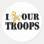 Apoyo a nuestro pegatina de las tropas