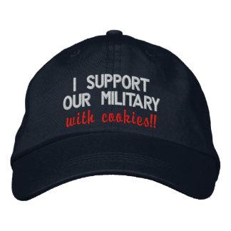 ¡Apoyo a nuestros militares con las galletas!! Gor Gorra De Beisbol