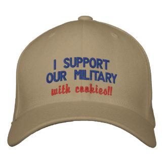 ¡Apoyo a nuestros militares con las galletas!! Gorras Bordadas