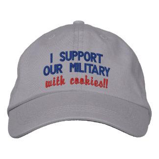 ¡Apoyo a nuestros militares con las galletas!! Gorra De Béisbol Bordada