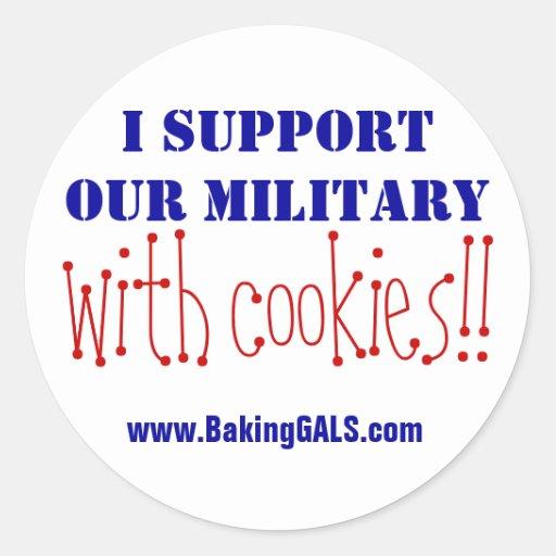 ¡Apoyo a nuestros militares con las galletas!! Pegatinas
