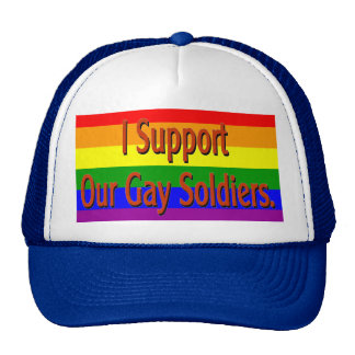 Apoyo a nuestros soldados gay gorros