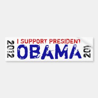 Apoyo a presidente Obama 2012 Pegatina De Parachoque