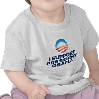 Apoyo a presidente Obama Camisetas