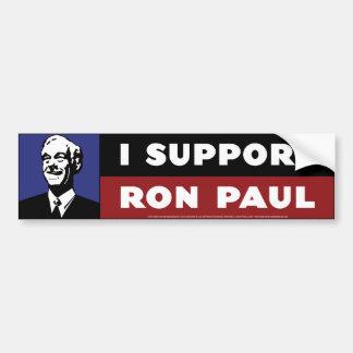 Apoyo a Ron Paul - azul Etiqueta De Parachoque