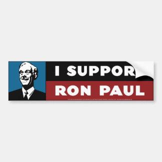 Apoyo a Ron Paul - azul fresco Pegatina Para Auto