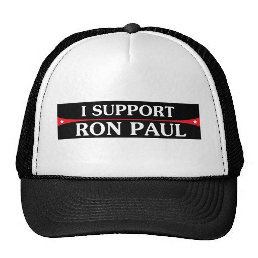 ¡Apoyo a Ron Paul! Gorro De Camionero