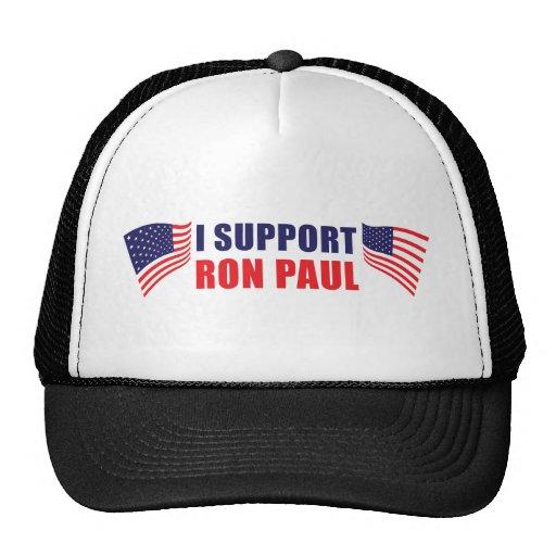 ¡Apoyo a Ron Paul! Gorros Bordados