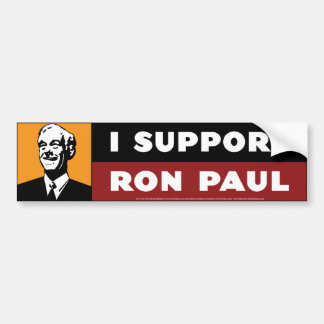 Apoyo a Ron Paul - naranja Pegatina De Parachoque