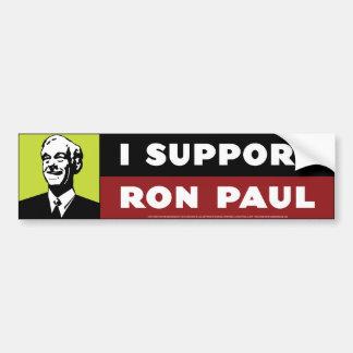 Apoyo a Ron Paul - neón Pegatina De Parachoque