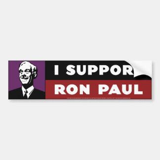 Apoyo a Ron Paul - púrpura Etiqueta De Parachoque