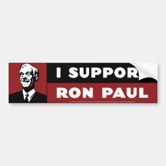 Apoyo a Ron Paul - rojo Pegatina De Parachoque