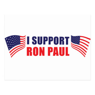 ¡Apoyo a Ron Paul! Postal