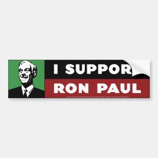 Apoyo a Ron Paul - verde Pegatina De Parachoque