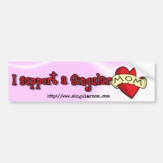 Apoyo a una mamá del singular ($4) pegatina para auto
