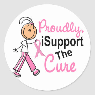 Apoyo al cáncer de pecho de la curación SFT Pegatina Redonda