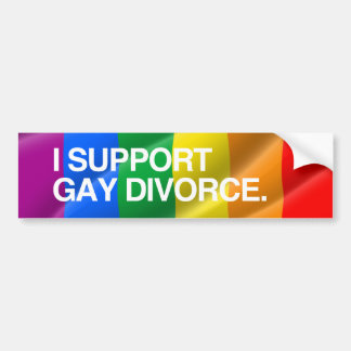 APOYO al GAY DIVORCE.png Etiqueta De Parachoque