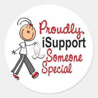 Apoyo alguien SFT especial (el cáncer del hueso/de Pegatina Redonda