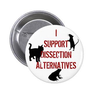 Apoyo alternativas de la disección pins