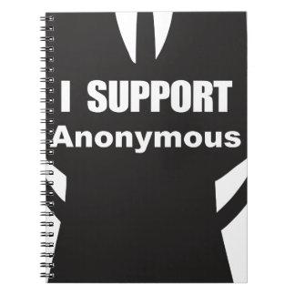 Apoyo anónimo libros de apuntes