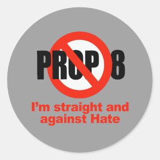 APOYO ANTI 8 - derecho contra odio Etiqueta Redonda