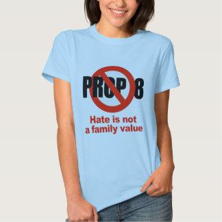 APOYO ANTI 8 - el odio no es un valor familiar Camisas