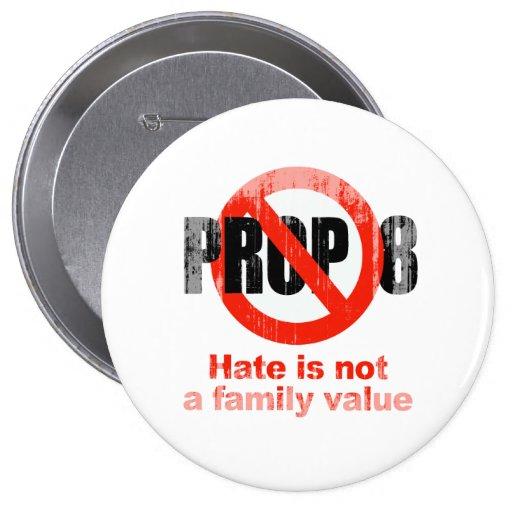 APOYO ANTI 8 - el odio no es un valor familiar Fad Pin