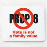 APOYO ANTI 8 - el odio no es un valor familiar Alfombrillas De Raton