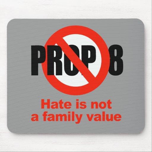 APOYO ANTI 8 - el odio no es un valor familiar Tapete De Ratón