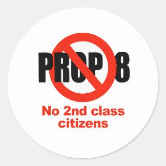 APOYO ANTI 8 - ninguna 2da clase Etiqueta Redonda