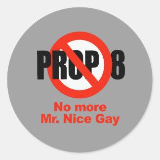 APOYO ANTI 8 - no más de Sr. Nice Gay Etiquetas Redondas