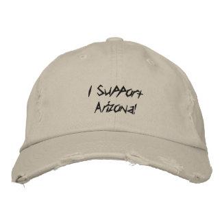¡Apoyo Arizona! Gorras De Beisbol Bordadas