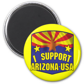 Apoyo Arizona los E.E.U.U. Imán Redondo 5 Cm