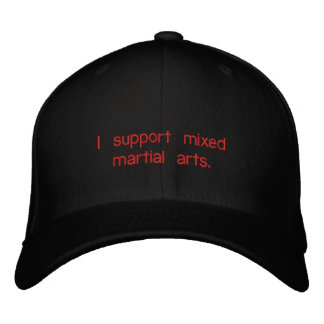 Apoyo artes marciales mezclados gorra de béisbol