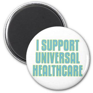 Apoyo atención sanitaria universal imán redondo 5 cm