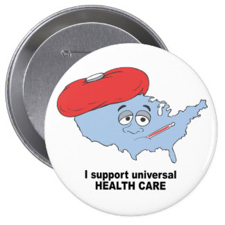 Apoyo atención sanitaria universal pins